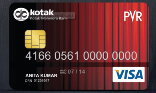 PVR Kotak Gold Credit card
