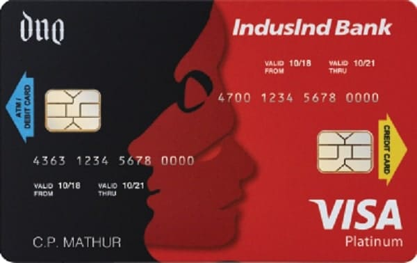 Indusind bank duo card