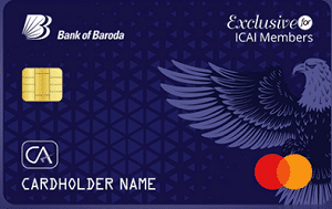 BoB EXCLUSIVE Credit Card for ICAI Member