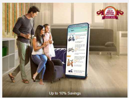 Citi Bank Offers-10% discount on Amazon