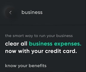 Clear business expnes now with credit card