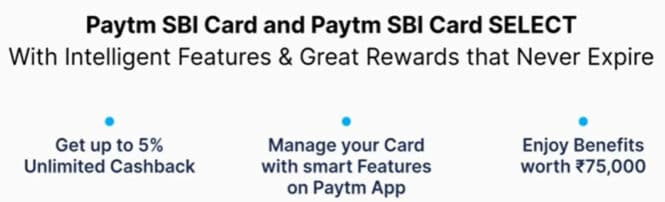 Paytm SBI Card and Paytm SBI Card SELECT