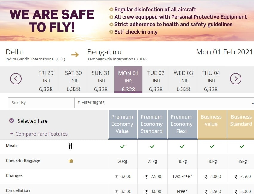 Club Vistara SBI Card Prime Premium Ticket