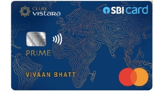 Club Vistara SBI Card Prime