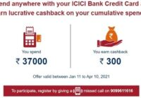 ICICI Bank Spend Offer Get Rs. 300 Cashback