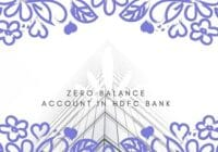 Zero Balance Account In HDFC Bank